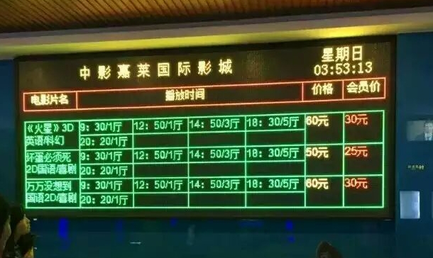 P7.62/5.0双基色LED显示屏