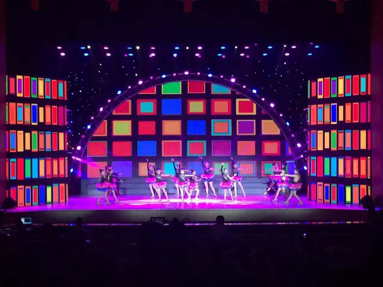 舞台背景彩色led显示屏
